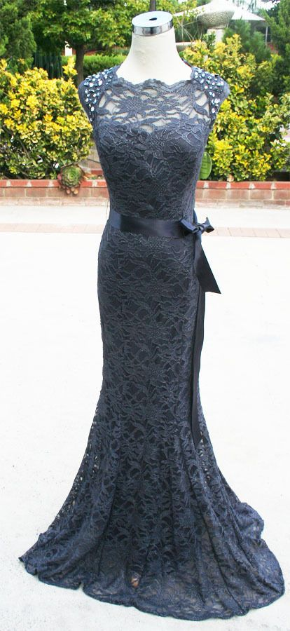 NWT BETSY & ADAM $200 Charcoal Ball Prom Formal Gown 10 | Formal ...