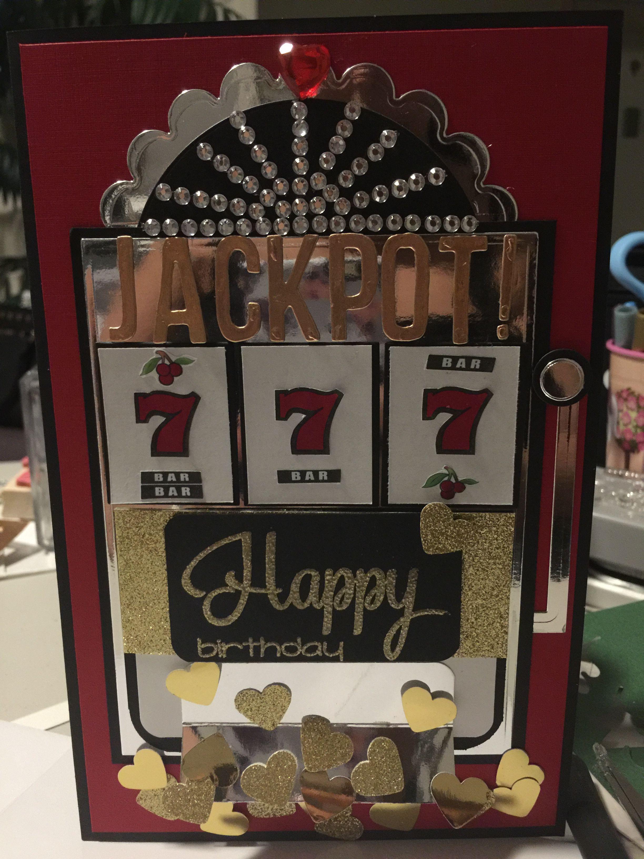 slot machine birthday card