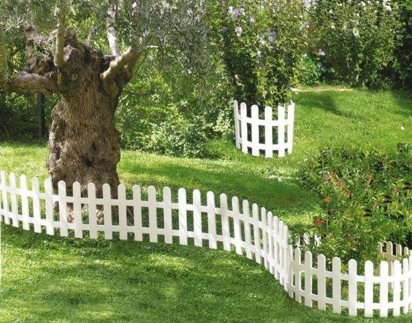 Petit barrière de jardin | jardin | Bordure jardin, Jardins ...