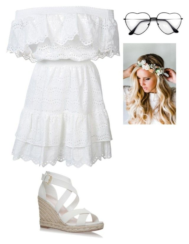 """Без названия #1054"" by gazieva-dinara ❤ liked on Polyvore featuring LoveShackFancy and Emily Rose Flower Crowns"