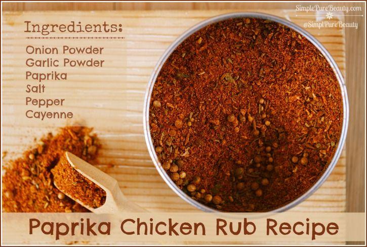Paprika Chicken Rub Recipe Rub recipes, Food recipes