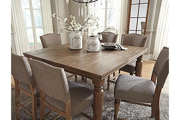 The Tanshire Counter Height Dining Room Table From Ashley Furniture Homestore Afhs Com Kitchen Table Settings Counter Height Dining Room Tables Dining Table