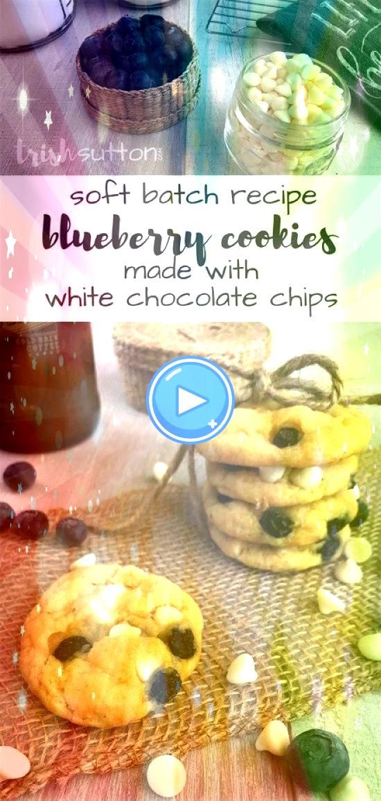 Batch Blueberry Cookies made with White Chocolate Chips will melt in your mouth Simple Recipe Details Soft Batch Blueberry Cookies made with White Chocolate Chips will me...