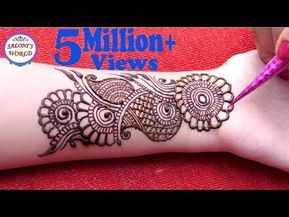 Trending arabic big flower henna mehndi designs  tattoo by jyoti sachdeva youtube also rh gr pinterest