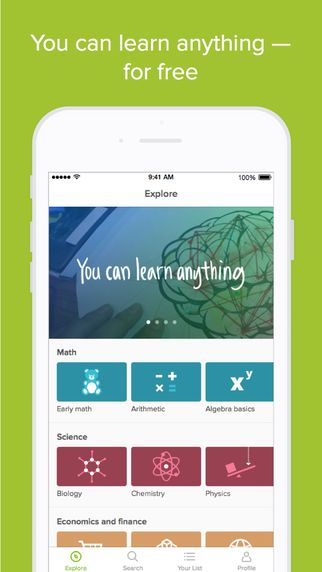 Khan Academy will help you learn just about anything. Khan