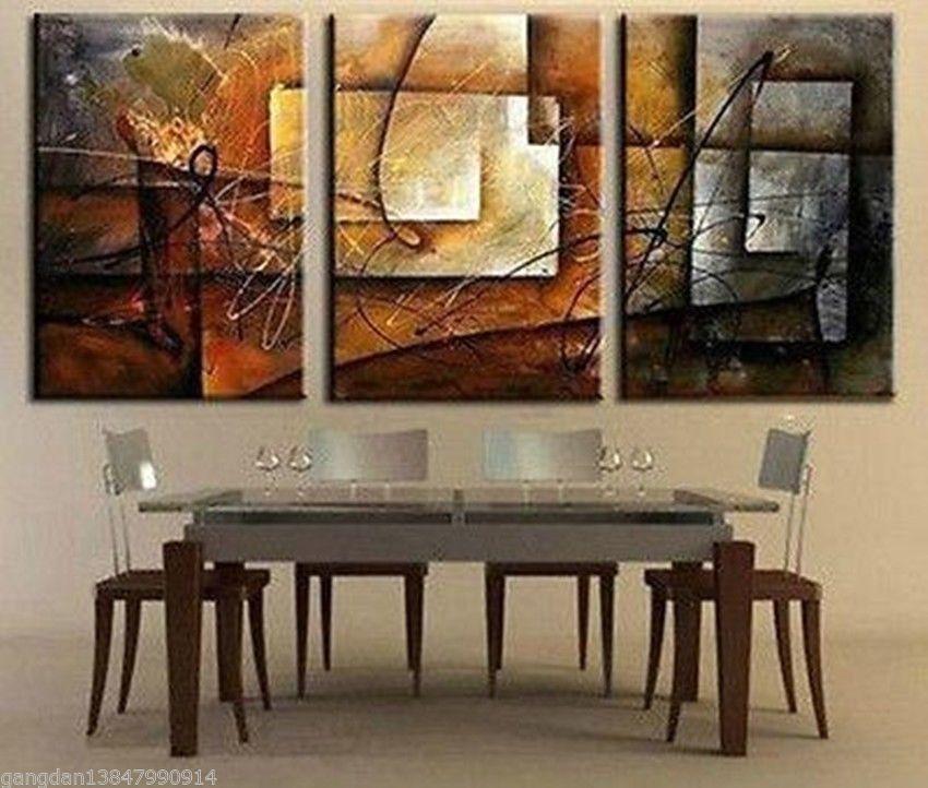 3pc Grande Moderno Abstracto Arte Óleo Pintura Pared Decoración ...