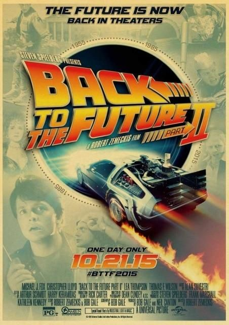Vintage Back to the Future Retro Poster Collection (Various Styles and Sizes) - 42X30CM / 14