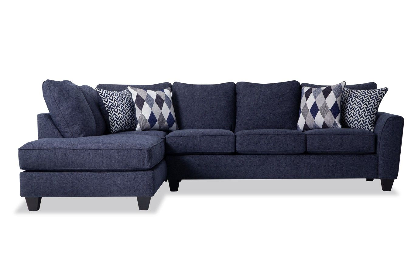 Capri Denim Right Arm Facing Full Bob O Pedic Sleeper Sectional Sectional Furniture Sleeper Sectional