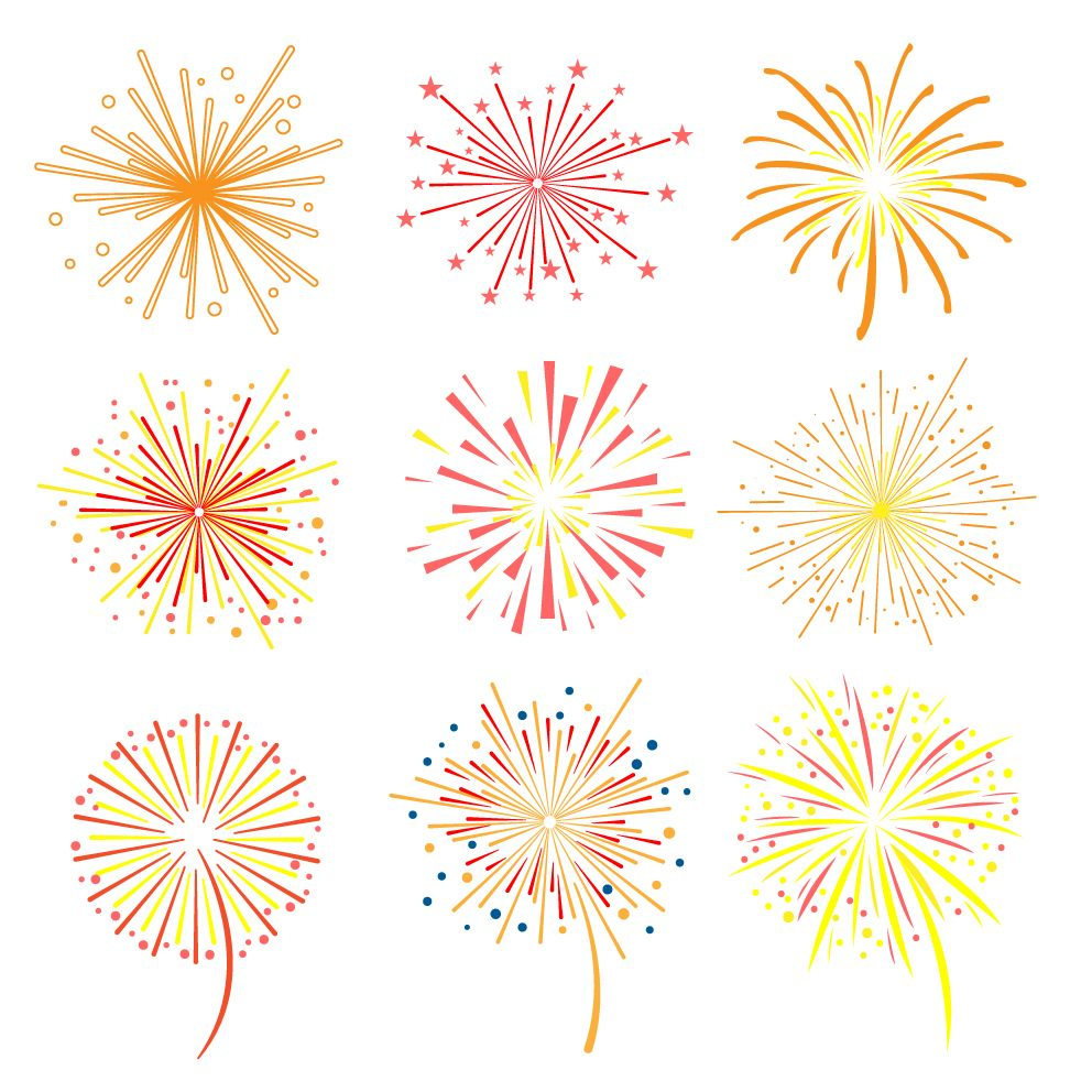 Fireworks vector illustration by topvectors on creative market