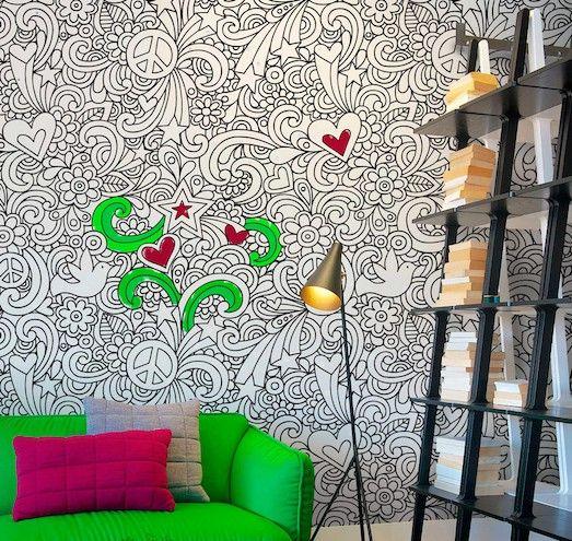 Обои-раскраска — отличное решение для детской комнаты ...