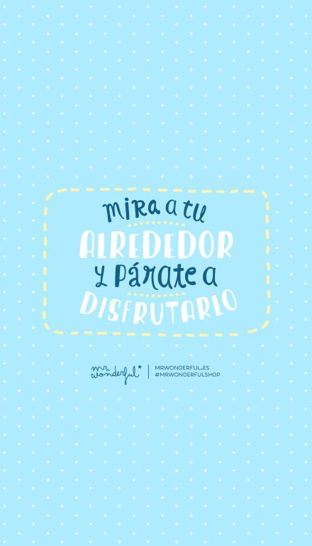 Mira A Tu Alrededor Un P Rate A Disfrutarlo Mr Wonderful