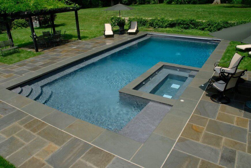 31 Unique Pool Shapes And Designs Rectangular Pool Geometric Pool Square Pool