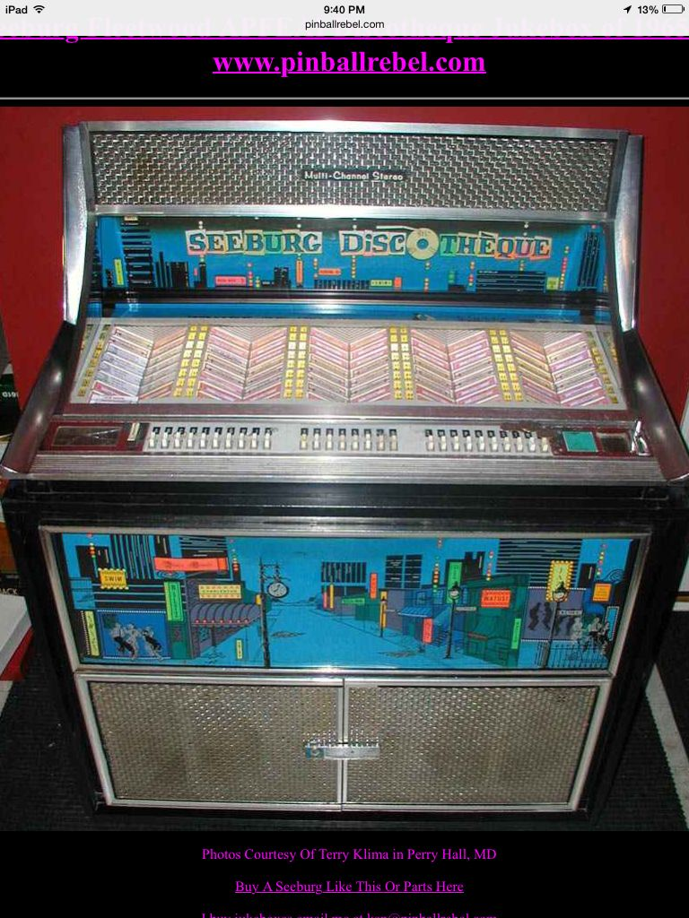 Seeburg Discotheque In 2019 Jukebox Record Player Pinball