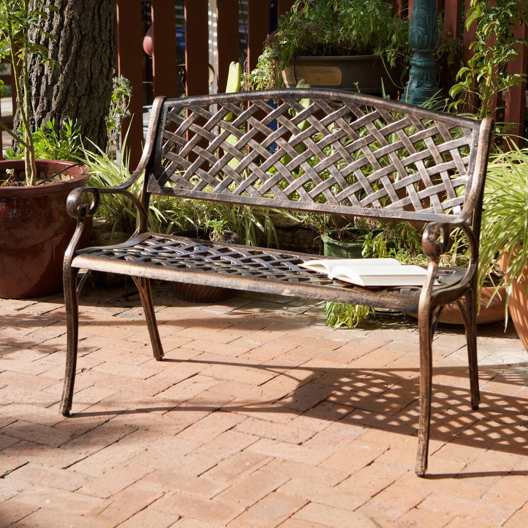 cast aluminum benches outdoor