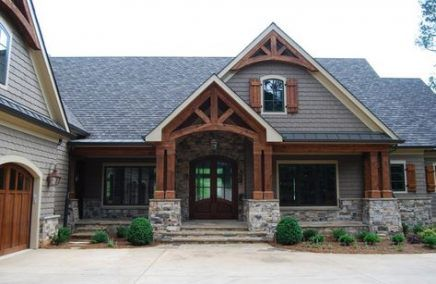 House front stone porches 42+ New Ideas #craftsmanstylehomes