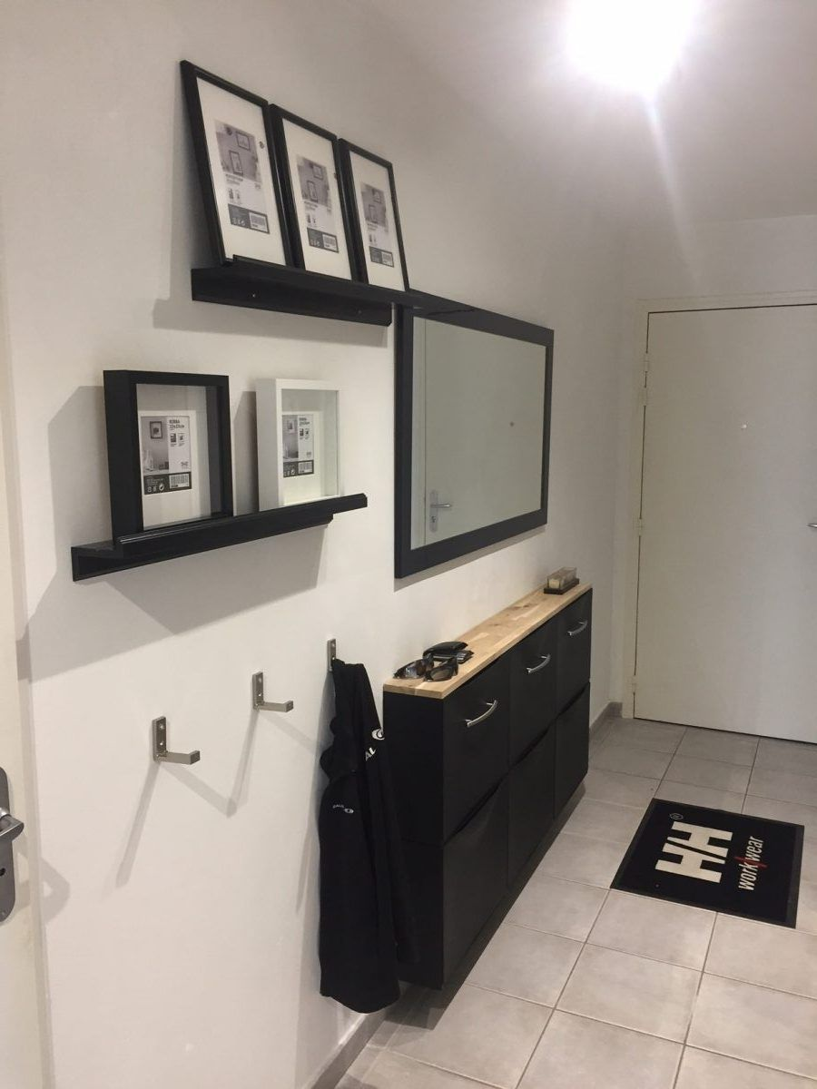 un buffet d entr e pour un couloir troit bidouilles ikea pinterest entr e couloir et. Black Bedroom Furniture Sets. Home Design Ideas