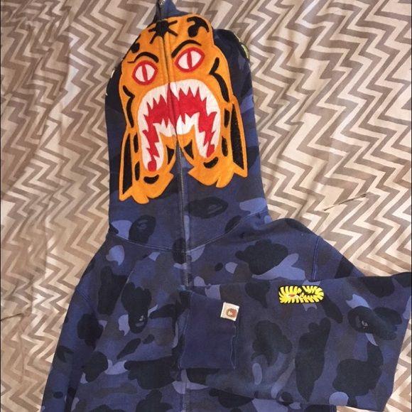 detailed pictures c8d7e 87f46 Bape by A Bathing Ape Tiger Shark Bape Jacket size M  250 Puma x Bape  Hoodie size S  200 Playboy x Bape Cap OSFA  80 Bape Skullcap OSFA   80 Tops