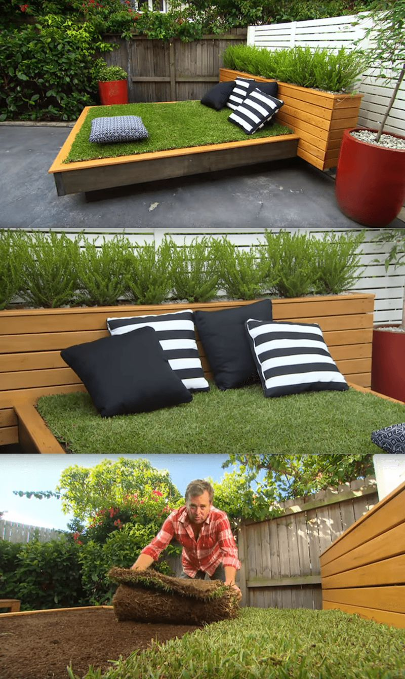 - How To Build DIY Outdoor Daybed Out Of Green Grass Outdoor