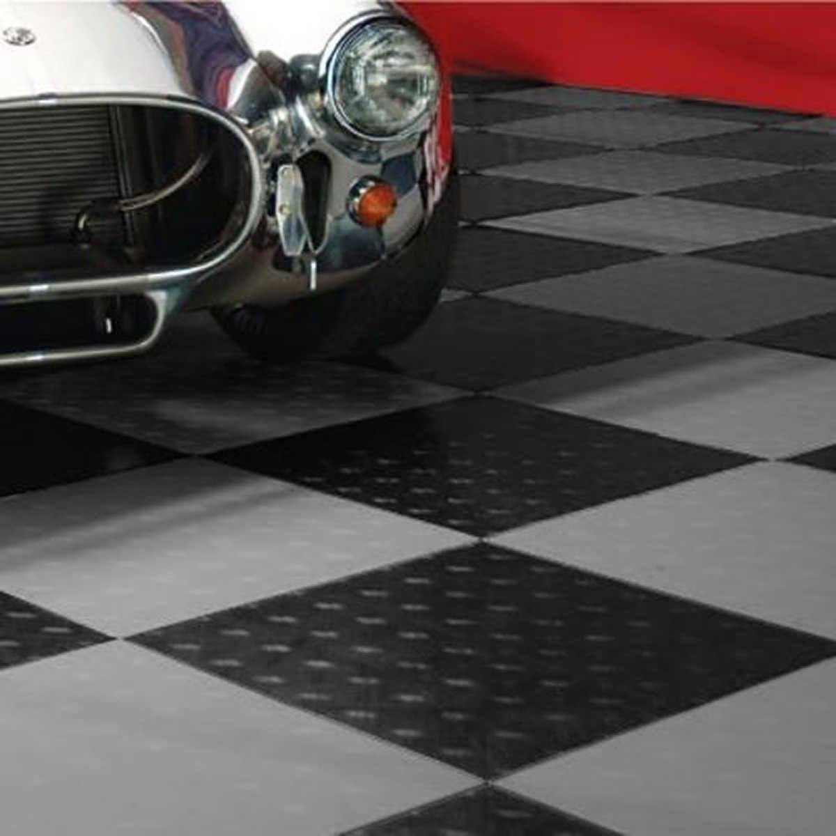 MotoFloor Modular Garage Flooring Tiles 48 square feet per