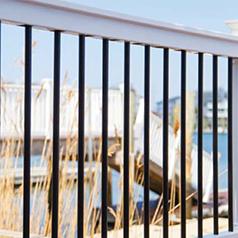 Best Deck Railing Finyl Line™ T Top Vinyl White Round With 400 x 300