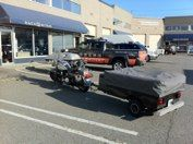2002 Harley Davidson hitch and 4 pin wiring with tent trailer  #hitchngear