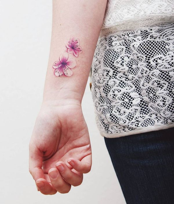Cherry Blossom Tattoo Japanese Blossom Tree Tattoo Design December 2020 Cherry Blossom Tree Tattoo Tree Tattoo Small Blossom Tattoo