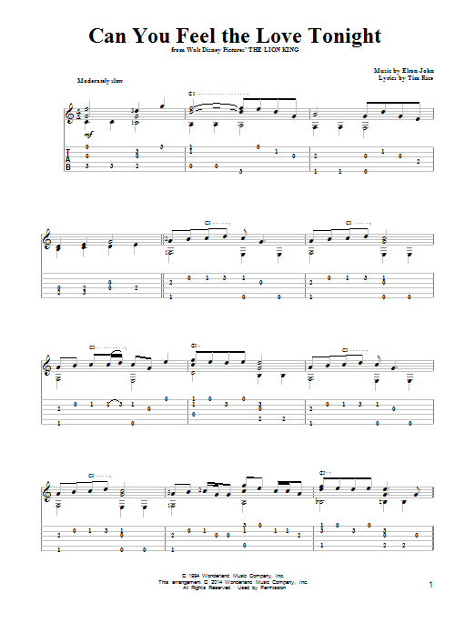 partition guitare tablature