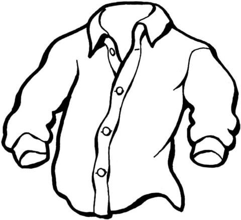 Camisa De Hombre Dibujo Para Colorear Dibujo De Camisa Camisa Dibujo Paginas Para Colorear