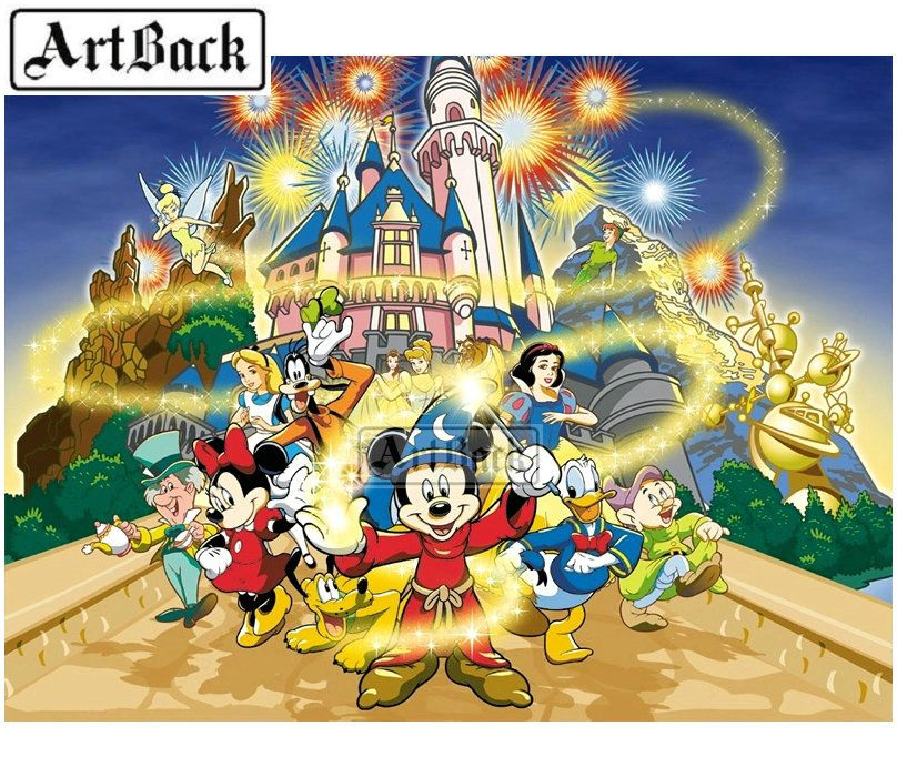 f49f7fd9ae Disney 5d diy diamond painting Mickey Mouse Full square / round drill new  arrival 3d diamond embroidery rhinestone mosaic decoration gift