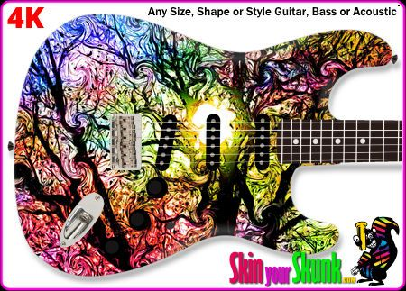 The Designer Armour Guitar Skin Is A High Definition Premium Vinyl Guitar Skin For Those Who Want A Beautifully Detailed Designer F Guitar Acoustic Guitar Skin