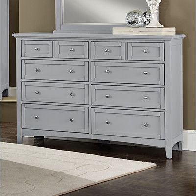 Vaughan Bett 10 Drawer Dresser With Mirror Reviews Wayfair