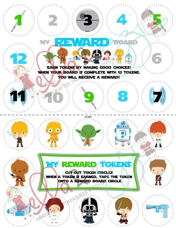 Printable Star Wars Reward Board Instant Download by ellaandezzi