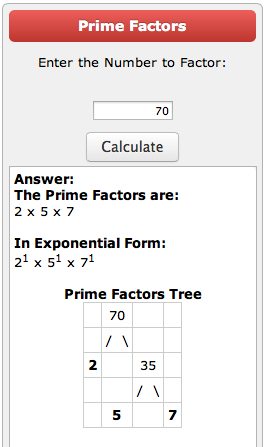 Prime factorization tree calculator | Prime factorization, Math examples,  Teaching math