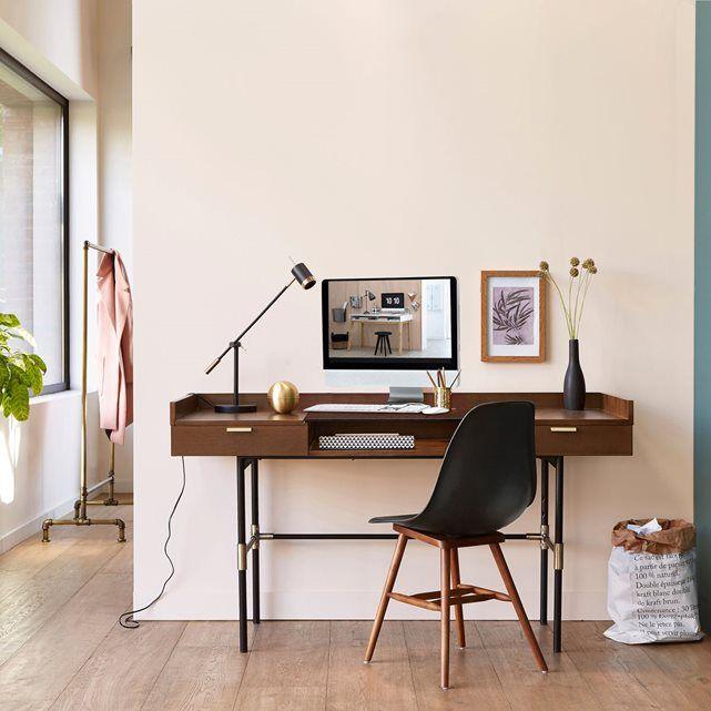 coin bureau dans un couloir deco masculine bureau homme stye art deco bureau bois fonc pied - Bureau En Bois Moderne