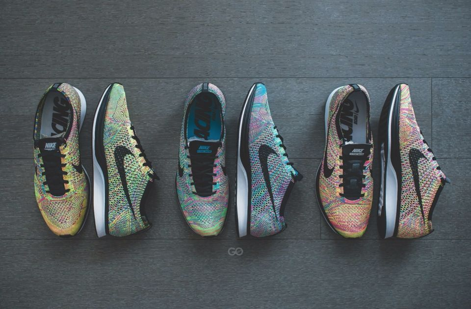 Nike Flyknit Racer Multicolor v. 1.0, 2.0, 3.0 | Nike shoes outlet, Running  shoes nike, Flyknit racer multicolorPinterest