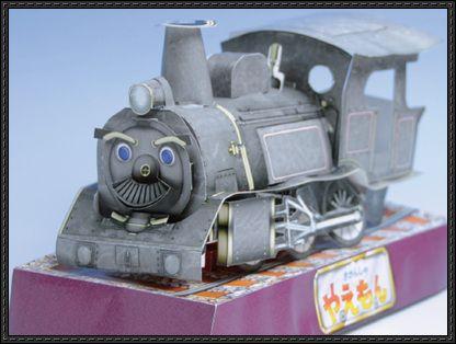 The Great Adventures of Kikansha Yaemon D51 - Steam Locomotive Free Paper Toy Download - http://www.papercraftsquare.com/great-adventures-kikansha-yaemon-d51-steam-locomotive-free-paper-toy-download.html