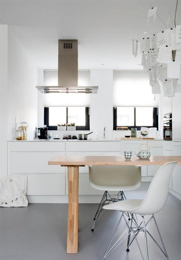 Resultado de imagen de witte keuken gietvloer cocinas pinterest