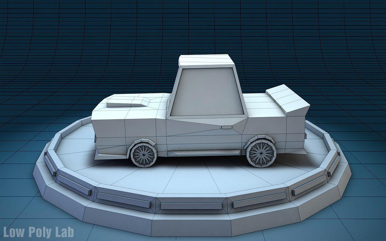 Low Poly Racing Car Car, Racing car model, Low poly