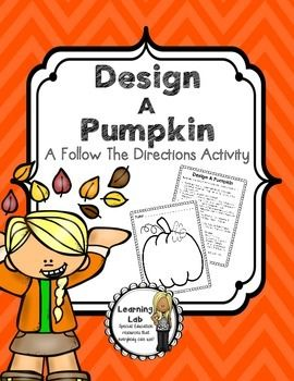 design a pumpkin following directions awesome tpt following directions following. Black Bedroom Furniture Sets. Home Design Ideas