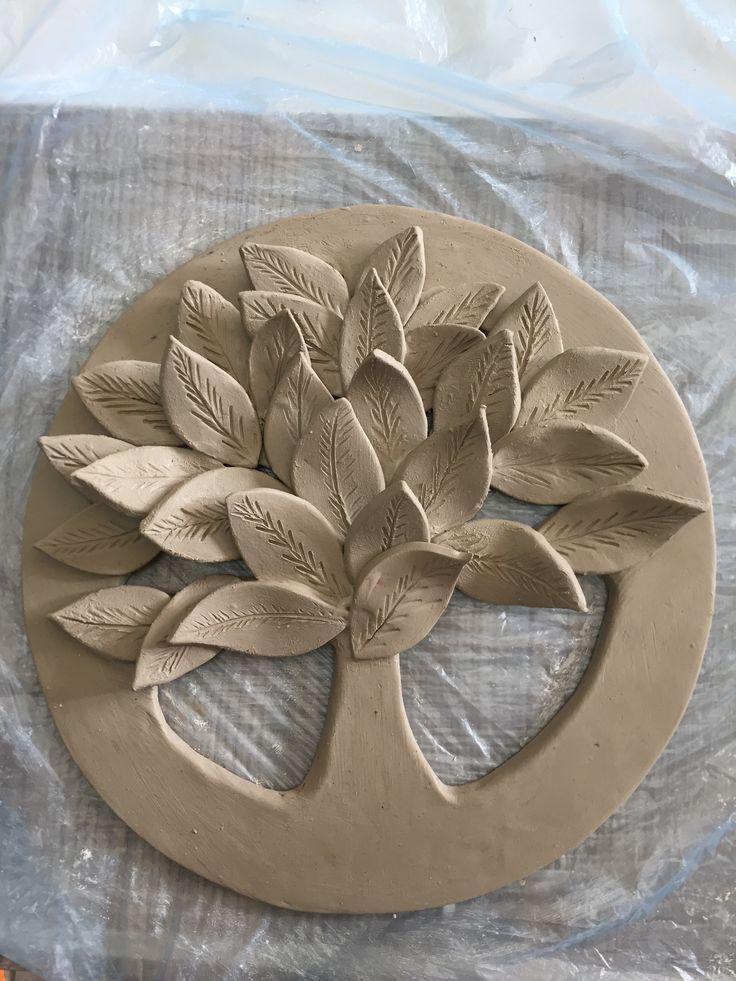 Meine wunderschöne Wandbaum Version.1 #meine #version #wandbaum #wunderschone #paintedpottery