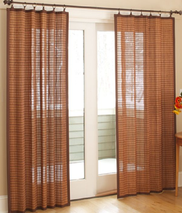 Banded Bamboo Panel - Family room sliding glass door | HOME is ...