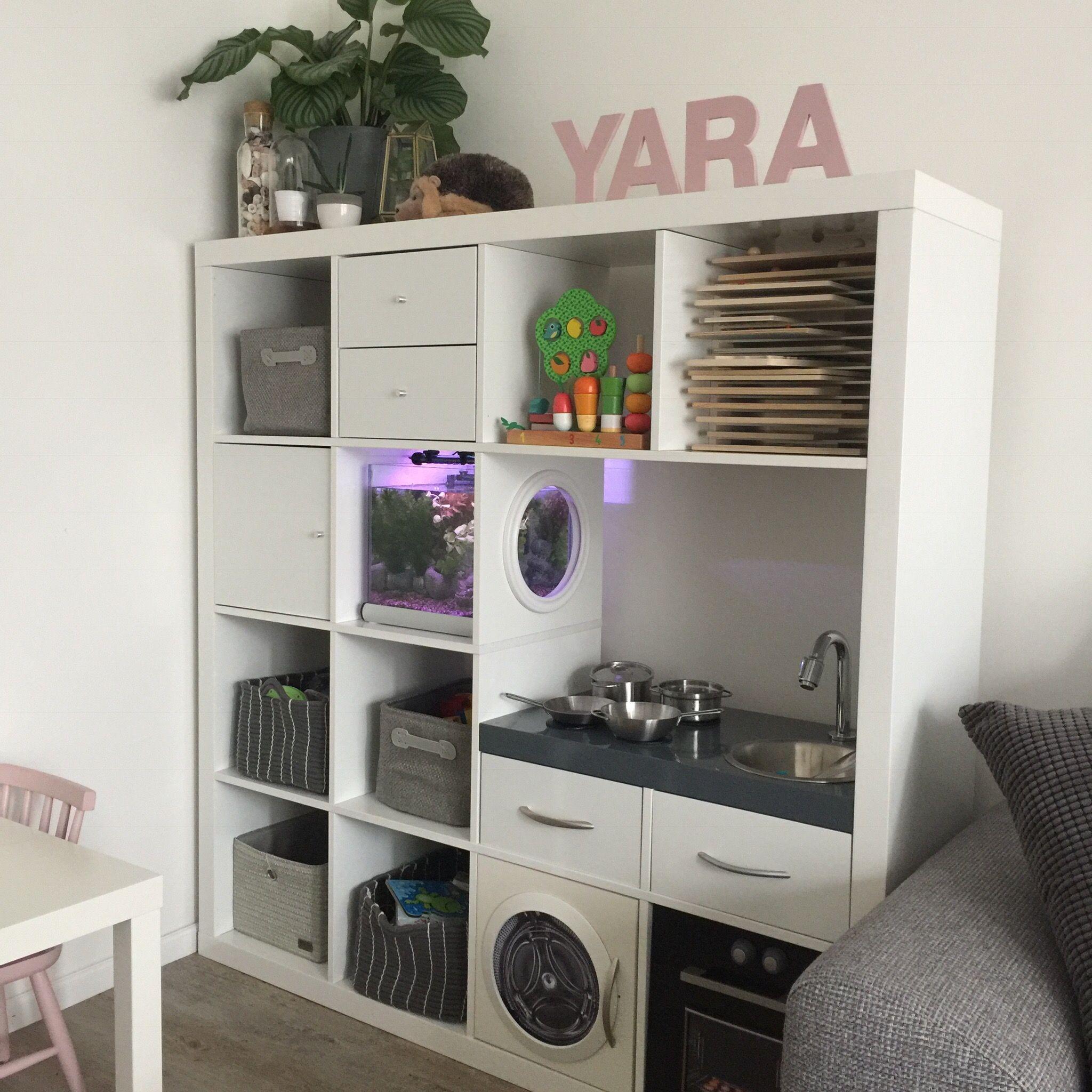 Ikea Kallax Kast Ikeahack Speelgoedkast Vissenkom In Kast