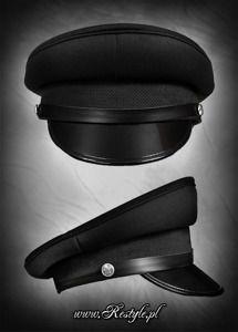 Military officer Cap BLACK
