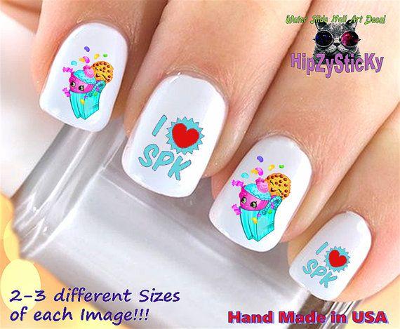 "nail art shopkins season 3 "" love"