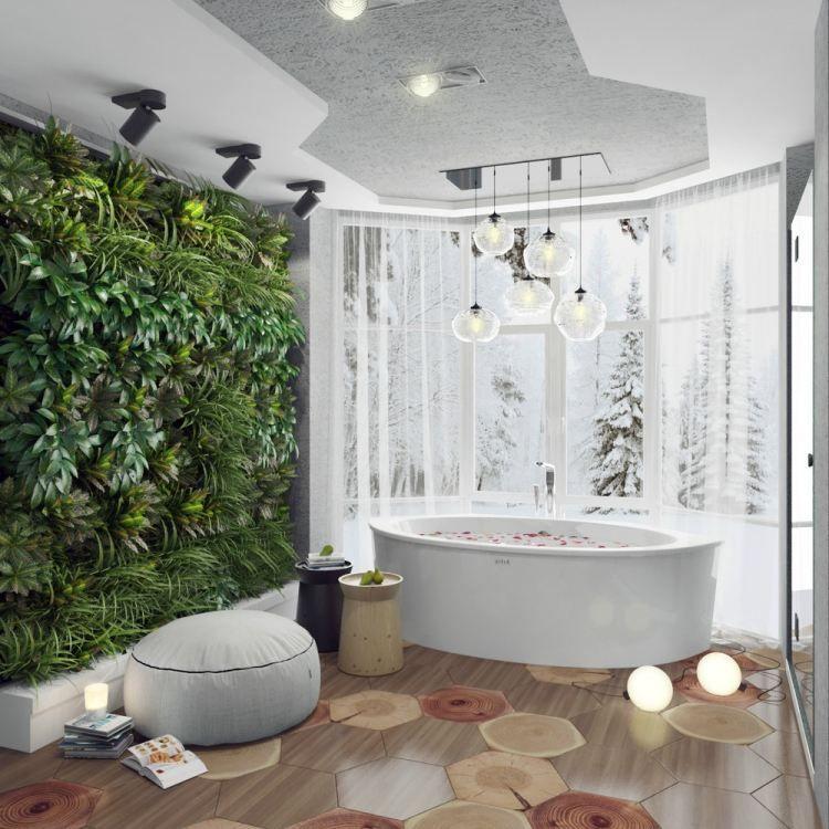 Idée Salle De Bains Tendances Pour Lannée Green Walls - Salle de bain design 2015