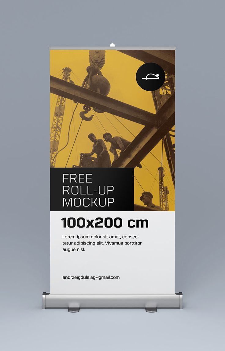 Pull up banner and stand mockup free psd photoshop