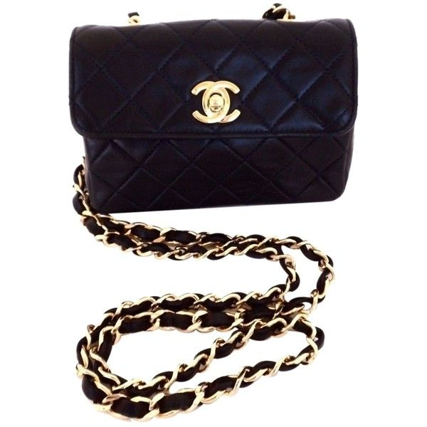 Pre-owned Chanel Vintage Mini Flap Quilted Leather Dark Blue Cross... ($1,295) ❤ liked on Polyvore featuring bags, handbags, shoulder bags, dark blue, crossbody shoulder bags, white shoulder bag, white purse, quilted shoulder bag and quilted handbags