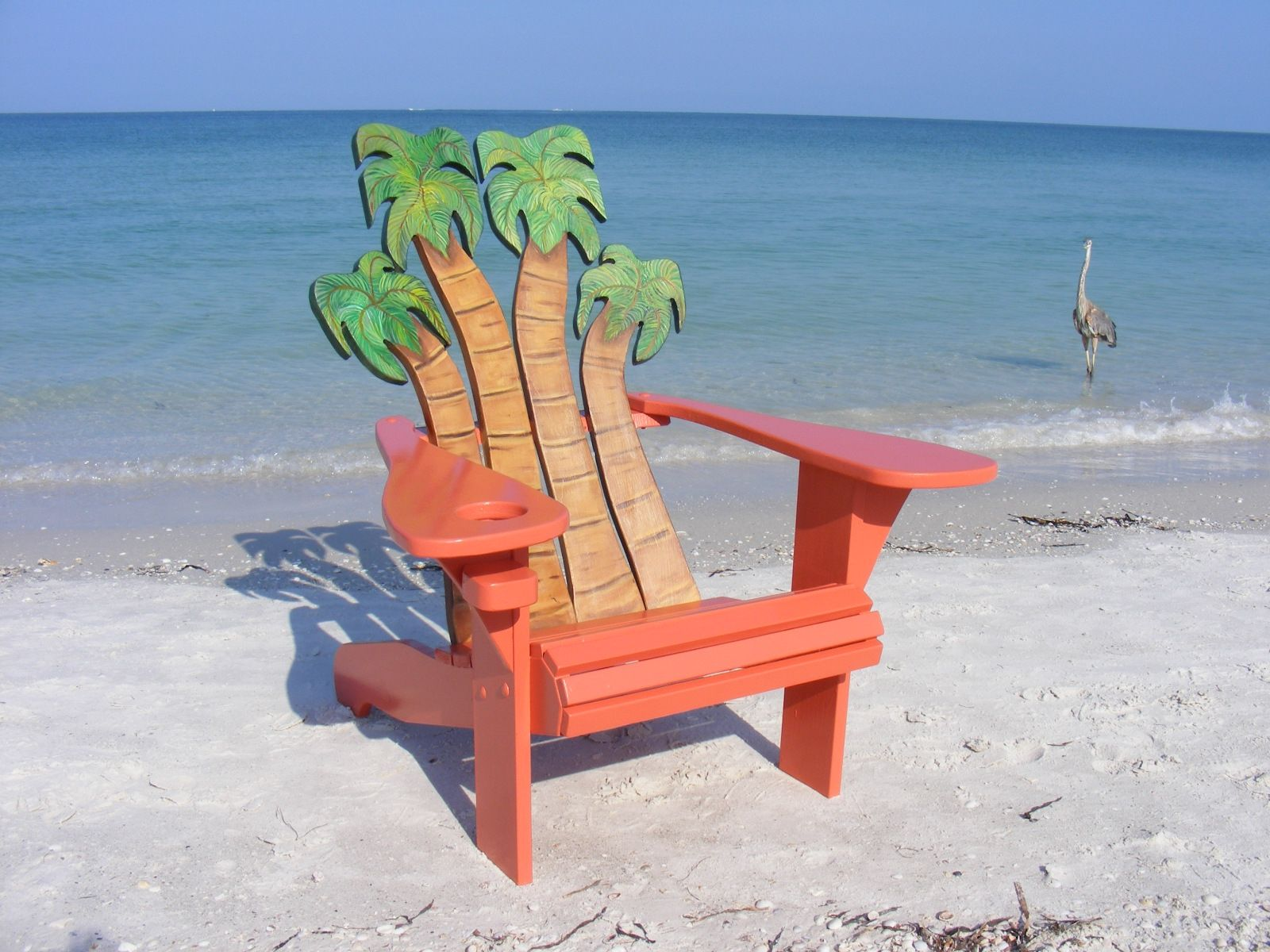 custom made adirondack chair palms design furniture pinterest