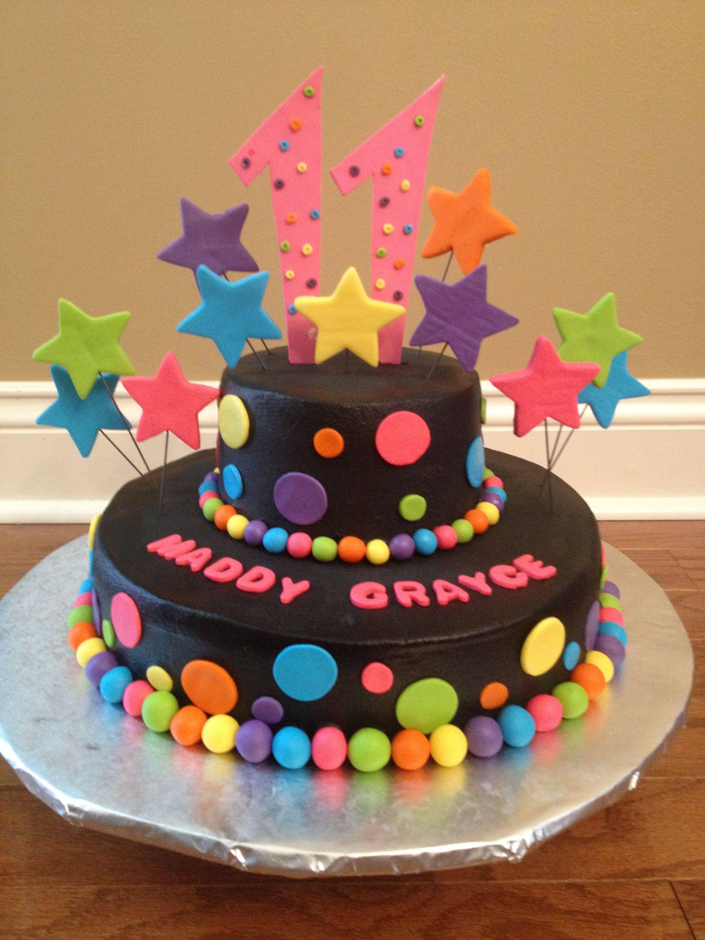 Admirable Neon Birthday Cake Neon Birthday Cakes Neon Birthday Neon Cakes Birthday Cards Printable Riciscafe Filternl