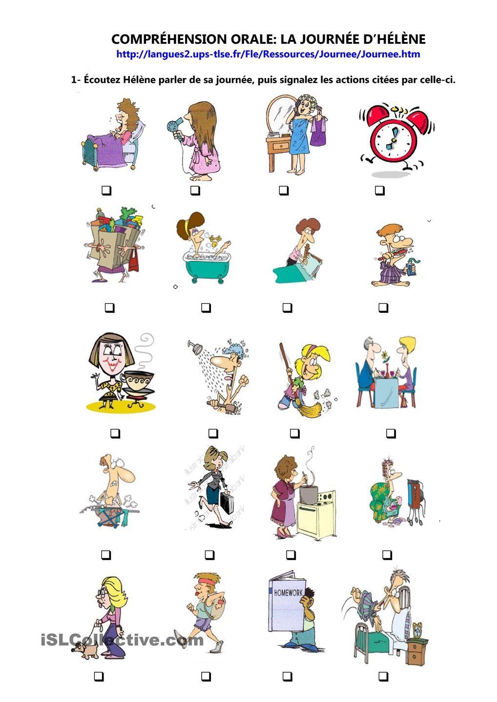Comprehension Orale La Journee D Helene School Fsf 1d1